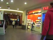Stunning czech kitten was teased in the mall and rode in pov
