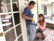 Enticing GILF Deep-Throats Dick Outdoors