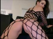 Big Ass Babe In Fishnet Body Stockings