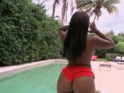 Big ass topless ebony flashing pussy outdoor