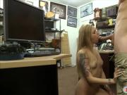 Lovely blonde babe ripped by pawn dude at the pawnshop