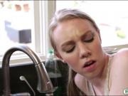 Cute teen Abi Grace gets pounded by her pervert stepbro