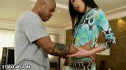 Pretty Brunette Chick Yiki Has Asshole Fucked By Meaty Black Dick