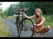 Wild Sporty Girls Nude on Bikes!