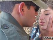 Cleavage blowjob Latina Deepthroats on the Border