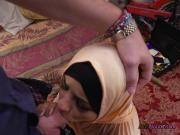 Arab Nikki Kay Sucks Big Cock For Some Cash