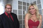 Large-Boobed Blonde Bitch Blows Cums Over A Meaty Hard-On