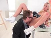 Sweet schoolgirl is seduced and screwed by her older teacher