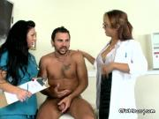 Horny Sexy Doctors Blow Well Endowed Patient