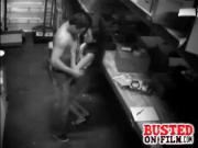 Dude & Girl Workers Busted Banging On Cam