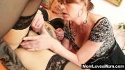 Two Wanton Lesbian Mother Lick One Another\'s Pussies