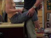 Skinny amateur blonde babe screwed by pervert pawn dude