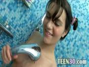 Sweet Teen Toys Vag In The Bath