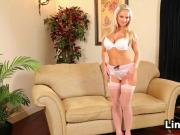 Blonde Babe Wearing Nylons