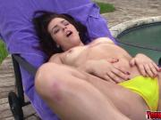 Kimberly Woods oiled up and anal fucked by a random guy