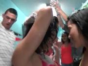 Wild college teens having a foam sex party