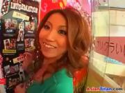 Asian Hottie Sucking Cock