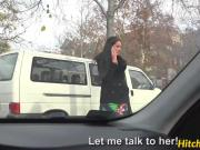 Adorable hungarian babe Loren Minardi enjoys backseat sex