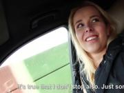 Blonde cutie Nikky Dream gets her pussy fucked in the car