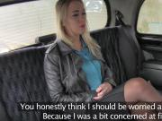 Blonde in lingerie bangs fake cab driver