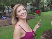 Nasty amateur brunette babe gets her pussy slammed good