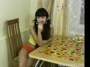 Hot teen sex in the kitchen