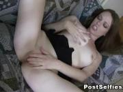 My Horny Girlfriend Masturbating On Couch