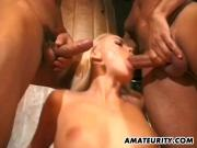 Amateur GF double penetration and facials