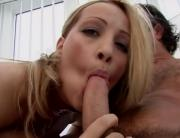 Slutty Chick Enjoys Facial From Different Cocks