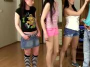 Femdom teens hold down their subject and want action