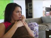Hot teen stepsis Maya Bijou gets her pussy pounded hard