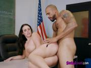 Sexy Teacher Angela White Gets Her Pussy Destroyed