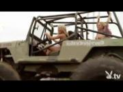 Nude Babes Driving Monster Trucks!