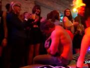 Flirty nymphos get completely crazy and naked at hardcore party