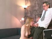 Sultry schoolgirl is teased and banged by her older schoolteacher
