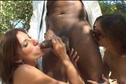 Two Naughty Whores Enjoy 1 Chocolate Juicy Weiner