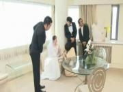 Hypnotized Bride Throated by the Groomsman!