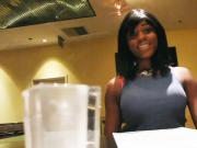 Black amateur girlfriends star in a homemade fuck video