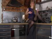 Try Anal Fisting - Lesbo ass fisting in a kitchen