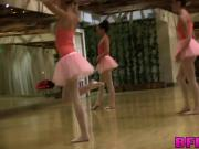 Ballerinas show off their dancing and pussy licking skills
