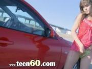 fetching girlfriend fingering in a car