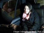 Hottie squirting in fake taxi