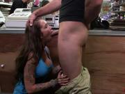 A sexy rocker slut gets more cash for sucking cock