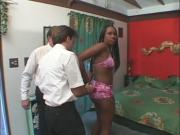 Black Slut Enjoys 2 Packages