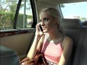 Teenie Naomi Woods hitchhikes and gets fucked in the car