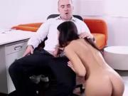 Gorgeous brunette fucks his teacher