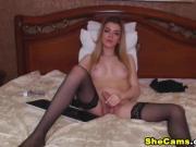 Beautiful Blonde Bombshell in a Hot Masturbation Show