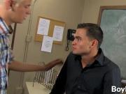 Kyle gives his teacher a blowjob before fucking him