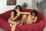 2 Horny Hotties Share One Long Cock
