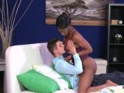 Black lingerie ebony at ass cumshot